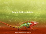 Return Address Labels - Chameleon Print Group