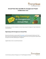 Annual Plans Now Available for Orangescrum Project Collaboration Tool