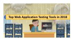 Top Web Application Testing Tools in 2018