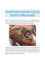 Traditional Japanese Tattoo Artists in Melbourne