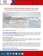 Hospital Artificial Intelligence Industry Analysis And Segment Forecast 2017-2023