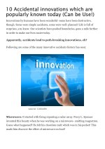 10 accidental innovations which are popularly known today