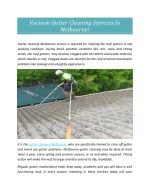 Vacuum Gutter Cleaning Services In Melbourne