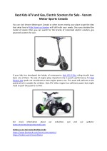 Best Kids ATV and Gas, Electric Scooters for Sale - Venom Motor Sports Canada