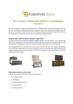 How to Choose Good Furniture Shops for a Good Shopping Experience - furniturebank.com