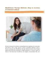 Mindfulness Therapy Midtown: Help in recovery of stimulant addicts