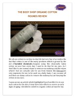 The Body Shop Organic Cotton Rounds- A must have product!