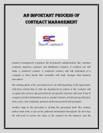 An Important Process of Contract Management