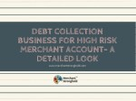 Debt Collection Business For High Risk Merchant Account- A Detailed Look