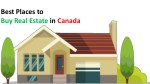 Best Places to Buy Real Estate in Canada