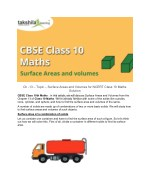 Ch -13 - Surface Areas and Volumes for NCERT Class 10 Maths Solution