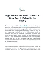 Private Yacht Charter - Yacht Share