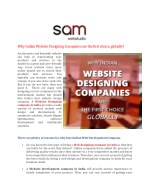 Why Indian Website Designing Companies are the first choice, globally?