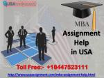 We Can Do Your Homework 24/7 [MBA Assignment Help] in USA