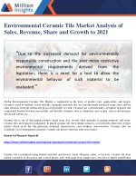 Environmental Ceramic Tile Market Analysis of Sales, Revenue, Share and Growth to 2021