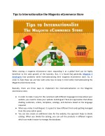 Tips To Internalize your eCommerce Store