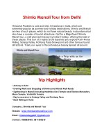 Shimla Manali Chandigarh Trip | Shimla Trip 2 Night 3 Days from Delhi