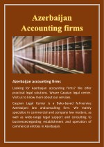 Azerbaijan accounting firms