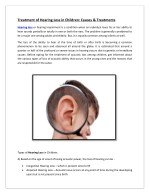 Treatment of Hearing Loss in Children: Causes & Treatments