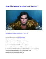{90k} [Watch] [A Fantastic Woman] Best Quality Movie Streaming Free