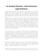 Car Accident Attorney – Get Professional Legal Assistance