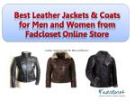 Best Leather Jackets & Coats for Men and Women from Fadcloset Online Store