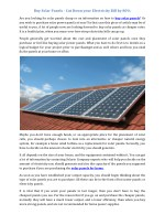 Buy Solar Panels - Cut Down your Electricity Bill by 80%