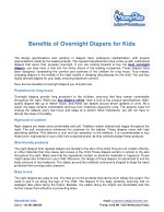 Benefits of Overnight Diapers for Kids