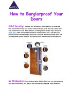 Best Home Security Systems Slough