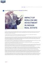 Impact Of RERA On NRI Investment In Indian Real Estate Market
