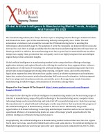 Research details developments in the Global Artificial Intelligence In Manufacturing report