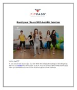 Boost your Fitness With Aerobic Exercises
