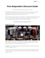 First Responders Discount Guide