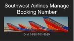Southwest Airlines Manage Booking | 1-888-701-8929 | Reservations