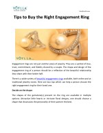 Tips to Buy the Right Engagement Ring