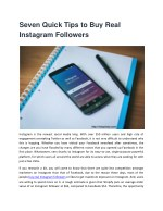Best Tricks to Buy Real Instagram Followers