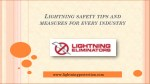 Lightning Safety Tips And Measures For Every Industry