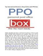 Top International Brands to Shop Online with PPO Box