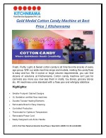 Get the Best Deal in Gold Medal Cotton Candy Machine   Kitchenrama
