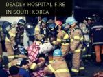 Deadly hospital fire in South Korea