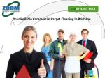 Your Reliable Commercial Carpet Cleaning In Brisbane