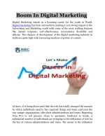 Boom in Digital Marketing.