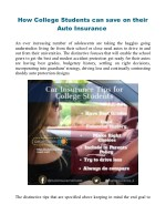 6 Ways College Students Can Save on their Auto Insurance