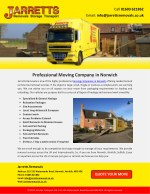 Professional Moving Company in Norwich
