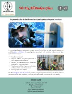 Expert Glazier in Brisbane for Quality Glass Repair Services