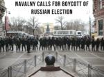 Navalny calls for boycott of Russian election