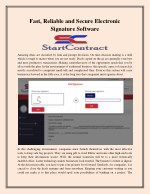 Fast, Reliable and Secure Electronic Signature Software