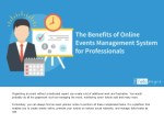 The Benefits of Online Events Management System for Professionals