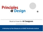Design Principles for All the Designers