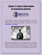 Things To Check When Hiring Bookkeeping Service